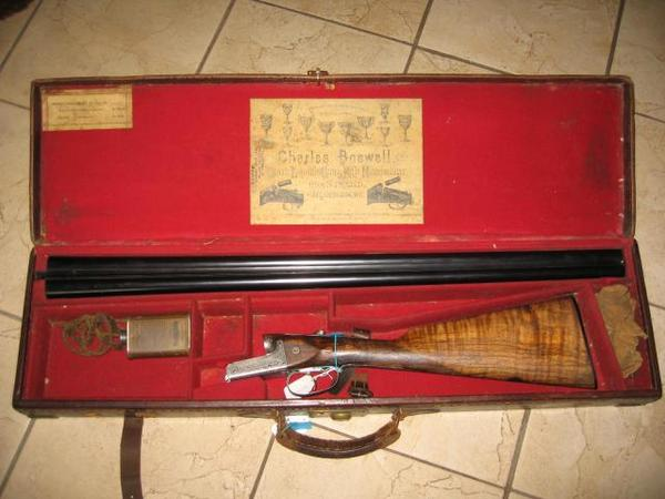 Cased Webley Scott & Son mit tollem Holz 12/65